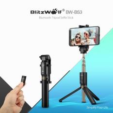 Hình ảnh BlitzWolf BW-BS3 3 in 1 Bluetooth Mini Extendable Folding Tripod Selfie Stick Black - intl