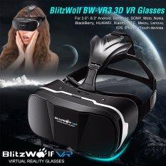 Hình ảnh Blitz Wolf??? BW-VR3 3 D VR Kính ảo Thực tế Tai nghe Đối with 3,5-6,3Inch Điện thoại di động-quốc tế