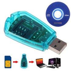 Hình ảnh Bluelans® USB Đtdđ Sim Tiêu Chuẩn Đầu Đọc Bản Sao Cloner Nhà Văn SMS Dự Phòng GSM/CDMA + CD-quốc tế