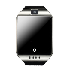 Hình ảnh Bluetooth 3.0 Cảm Ứng Màn Hình Đồng Hồ Đeo Tay Thông Minh Theo Dõi GSM Cuộc Gọi Điện Thoại Hỗ Trợ SIM Thẻ TF 2 m Pixels Camera cho Android 4.3 hoặc Trên Điện Thoại Di Động Samsung Galaxy S6 Edge S5 Sony LG Bạc-quốc tế