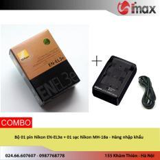 Giá Bán Bộ 01 Pin Nikon En El3E 01 Sạc Nikon Mh 18A Hang Nhập Khẩu