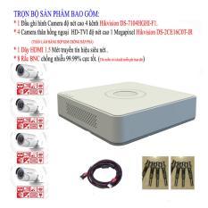 Giá Bán Bộ 1 Đầu Ghi Hinh 4 Kenh Hikvision Ds 7104Hghi F1 4 Camera Hồng Ngoại Vỏ Hợp Kim Chống Đập Pha 1 Megapixel Hikvision Ds 2Ce16C0T Ir 1 Day Hdmi 1 5 Met Va 8 Rắc Bnc Hikvision