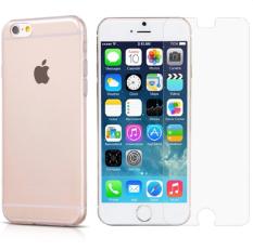 Giá Bán Bộ 1 Miếng Dan Cường Lực Va 1 Ốp Lưng Dẻo Cho Iphone 6 Plus 6S Plus Trong Suốt