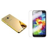 Chiết Khấu Bộ 1 Miếng Dan Kinh Cường Lực Va 1 Ốp Lưng Cho Samsung Galaxy Note 4 Gương Vàng