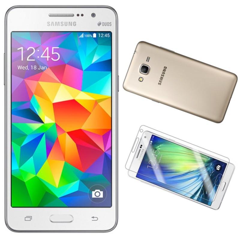 Bộ 1 Samsung Galaxy Grand Prime G530 8GB (Trắng) - Hàng nhập khẩu + Ốp Lưng + Dán Cường Lực