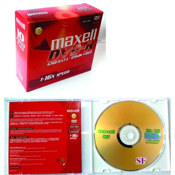 Bảng giá Bộ 10 đĩa DVD-R Maxell có hộp Phong Vũ