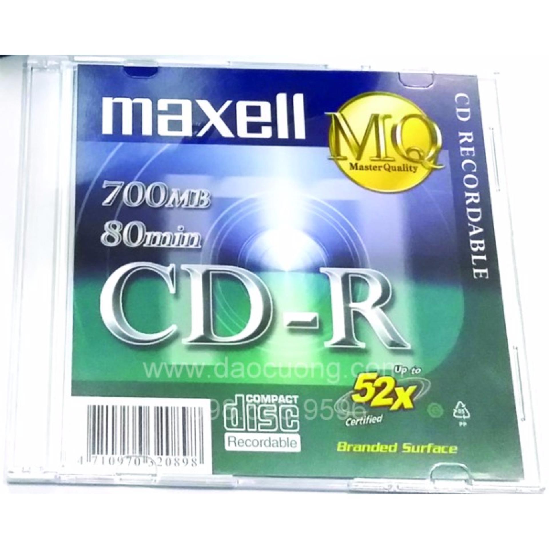 Giá Khuyến Mại Bộ 10 đĩa trắng CD-R Maxell 700MB có vỏ