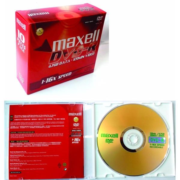 Bảng giá Bộ 10 đĩa trắng DVD-R Maxell 4.7GB có vỏ Phong Vũ