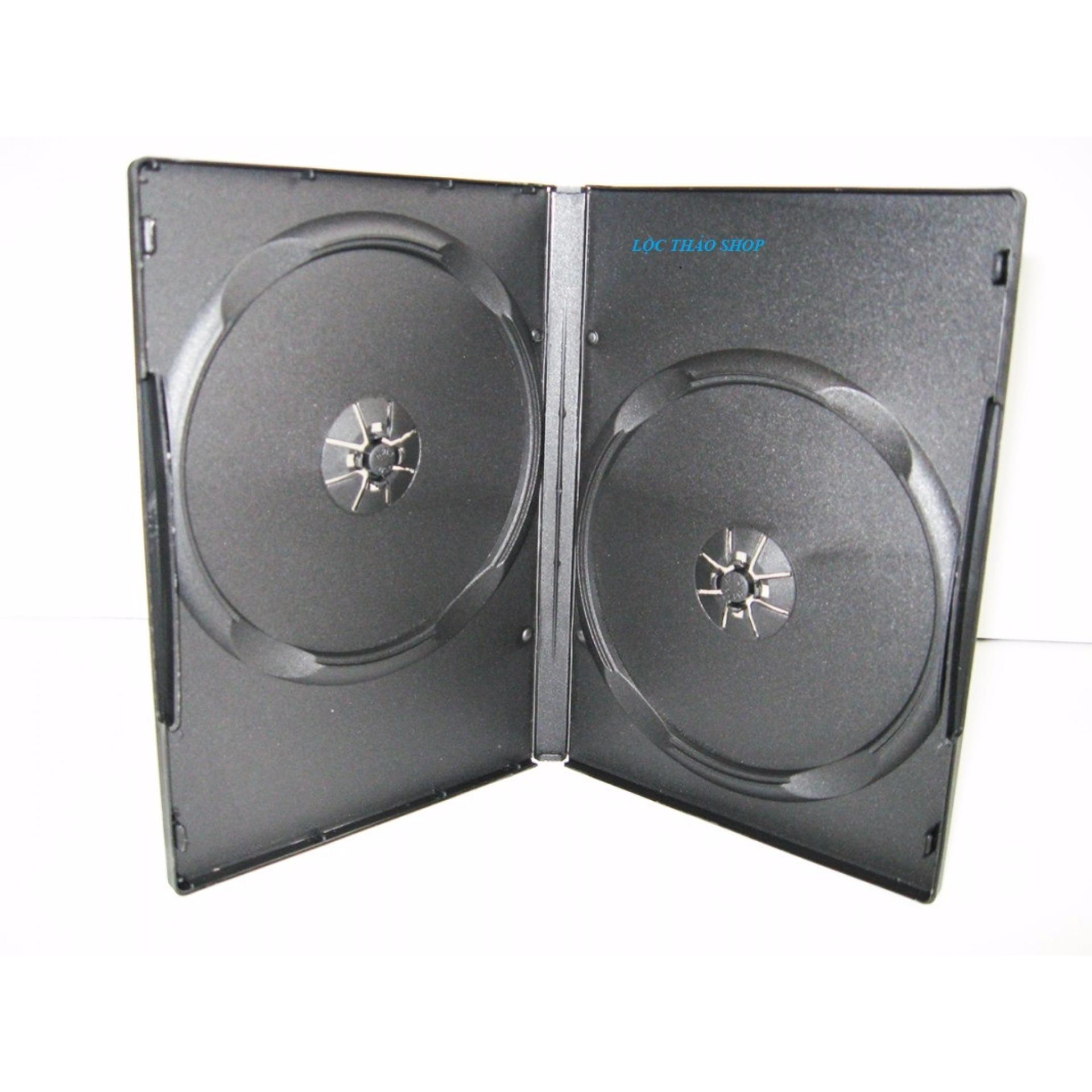 Địa Chỉ Bán Bộ 10 Hộp đựng đĩa CD DVD Hình chữ nhật LOẠI DÀY MÀU ĐEN(HỘP ĐỰNG 2 ĐĨA)