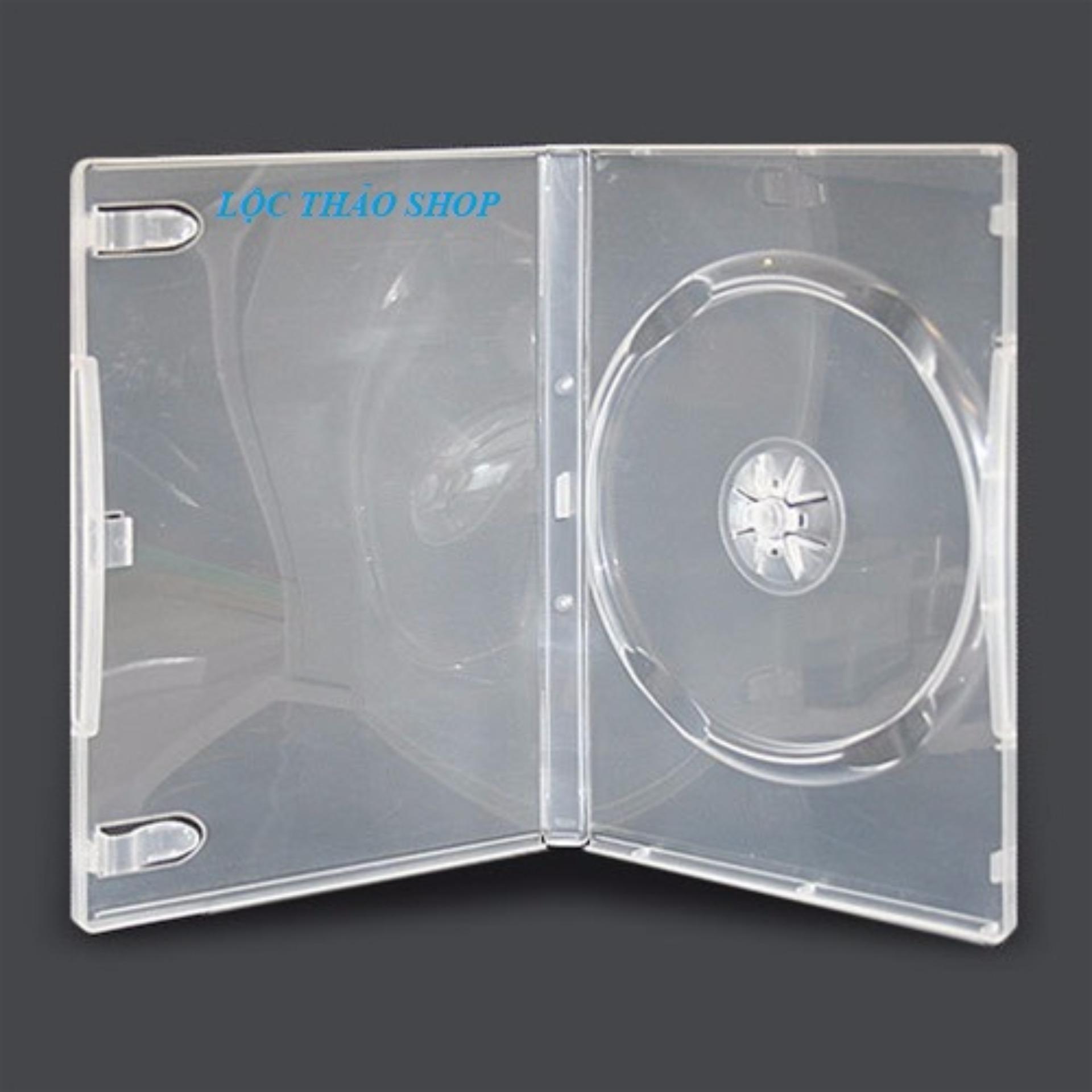 Giá Sốc Bộ 10 Hộp đựng đĩa CD DVD Hình chữ nhật LOẠI DÀY MÀU TRẮNG(HỘP ĐỰNG 1 ĐĨA)