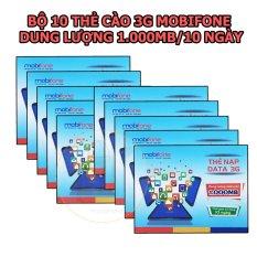 Bán Mua Bộ 10 Thẻ Cao 3G Mobifone Dung Lượng 1Gb 10 Ngay Mới Hồ Chí Minh