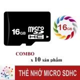 Giá Bán Bộ 10 Thẻ Nhớ 16Gb Micro Sdhc Class10 Oem Nguyên