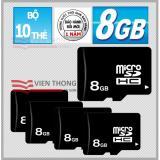 Giá Bán Bộ 10 Thẻ Nhớ Micro Sdhc 8Gb Đen Nguyên Oem