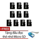 Ôn Tập Tốt Nhất Bộ 10 Thẻ Nhớ Micro Sdhc 8Gb Đen Tặng 1 Đầu Đọc Thẻ Nhớ Mẫu Ngẫu Nhien