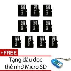 Chiết Khấu Bộ 10 Thẻ Nhớ Micro Sdhc 8Gb Đen Tặng 1 Đầu Đọc Thẻ Nhớ Mẫu Ngẫu Nhien Có Thương Hiệu