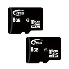 Bộ 2 8GB Thẻ nhớ Team Micro SDHC (Đen)