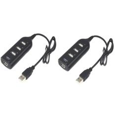 Hình ảnh Bộ 2 Bộ chia usb cho máy tính USB 2.0 Hub 4 Port (Đen)