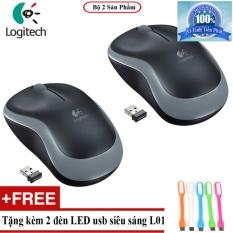 Hình ảnh Bộ 2 Chuột Máy Tính Không Dây Logitech B175 + Tặng đèn Led usb L01