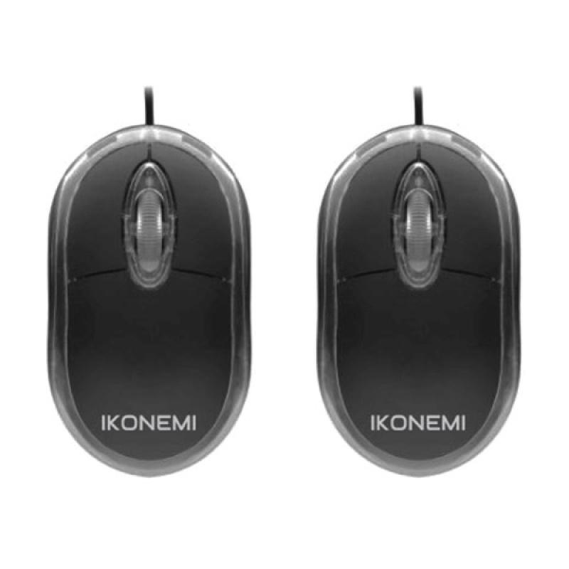 Bộ 2 Chuột vi tính USB có dây Ikonemi B10 (Đen)