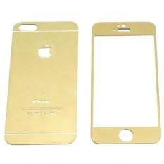 Bộ 2 mặt kính cường lực tráng gương iPhone 4 4S Screen Protector (Vàng)