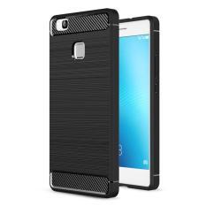 Ôn Tập Bộ 2 Ốp Lưng Dẻo Chống Xốc Carbon Cho Huawei P9 Lite Đen