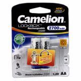 Chiết Khấu Bộ 2 Pin Sạc Aa Camelion Lockbox Rechargeable 2700Mah Trắng Camelion Trong Hồ Chí Minh