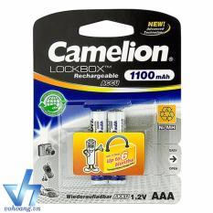 Bộ 2 pin sạc Camelion Lockbox 1100mAh AAA (Trắng)
