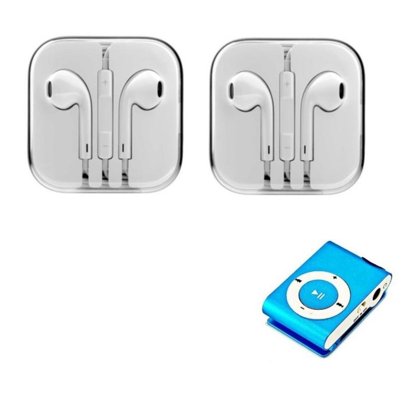 Bộ 2 Tai nghe nhét tai IP5 (Trắng) + Tặng Máy nghe nhạc mp3