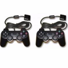 Giá Bán Bộ 2 Tay Cầm Chơi Game Playstation 2 Dualshock2 Đen Nhãn Hiệu Oem