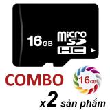 Giá Bán Bộ 2 Thẻ Nhớ 16Gb Micro Sdhc Đen Oem Mới