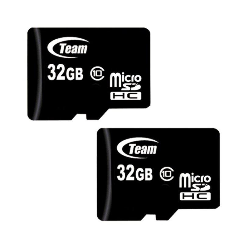 Bộ 2 Thẻ nhớ 32GB Team Taiwan MicroSDHC Class 10 (Đen)