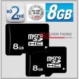 Bán Bộ 2 Thẻ Nhớ 8Gb Micro Sdhc Đen Rẻ