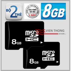 Chiết Khấu Bộ 2 Thẻ Nhớ 8Gb Micro Sdhc Đen Có Thương Hiệu
