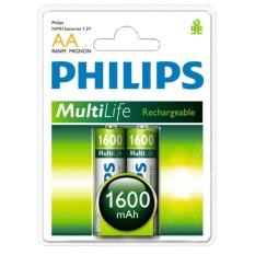 Bán Bộ 2 Vĩ Pin Sạc Philips 2 Vien Aa 1600Mah Rẻ