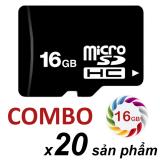 Bộ 20 Thẻ Nhớ 16Gb Micro Sdhc Đen Nguyên