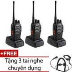Hình ảnh Bộ 3 bộ đàm Baofeng BF888S + Tặng 3 tai nghe chuyên dụng
