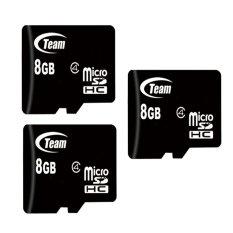 Bộ 3 Thẻ nhớ 8Gb Team Micro SDHC (Đen)