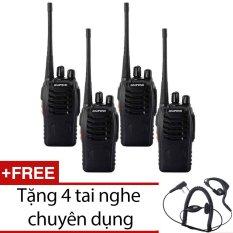 Hình ảnh Bộ 4 bộ đàm Baofeng BF888S đời 2016 (đen) + Tặng 4 tai nghe chuyên dụng