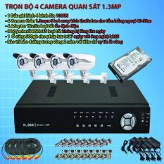 Bán Bộ 4 Camera Ahd 1 3Mp Gắn Ngoai Trời Nha Xưởng Tặng 1 Năm Ten Miền Seavision Nguyên