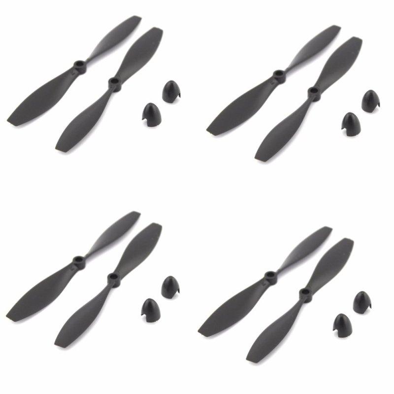 Bộ 4 cặp cánh quạt mini 108mm thuận nghịch cho máy bay cánh bằng, drone, flycam, quạt mini (Đen)
