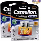 Bán Bộ 4 Pin Sạc Aa Camelion Lockbox Rechargeable 2700Mah Trắng Rẻ Nhất