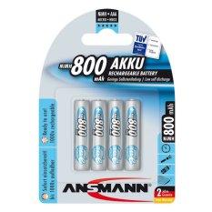 Hình ảnh Bộ 4 pin sạc AAA Ansmann 800mAh