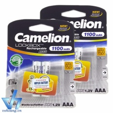 Cửa Hàng Bộ 4 Pin Sạc Camelion Lockbox Aaa 1 100Mah Tem Hợp Lực Camelion Hồ Chí Minh