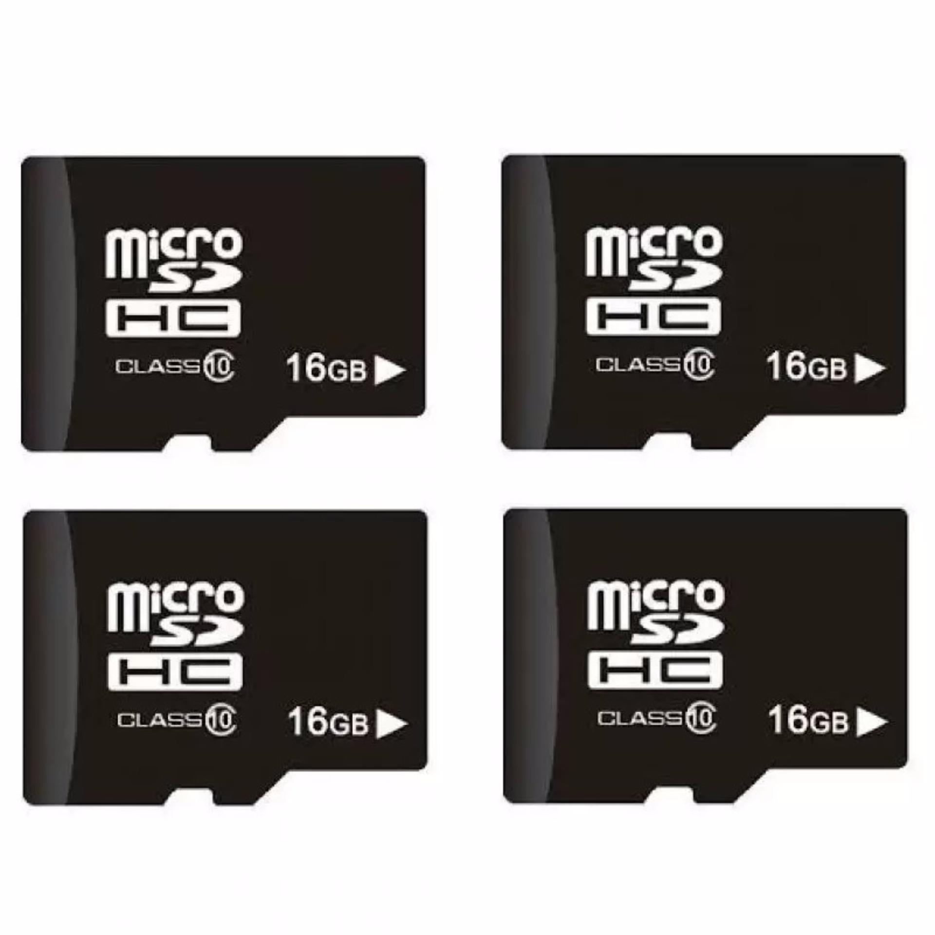 Bộ 4 Thẻ Nhớ 16Gb Micro Sdhc Class 10