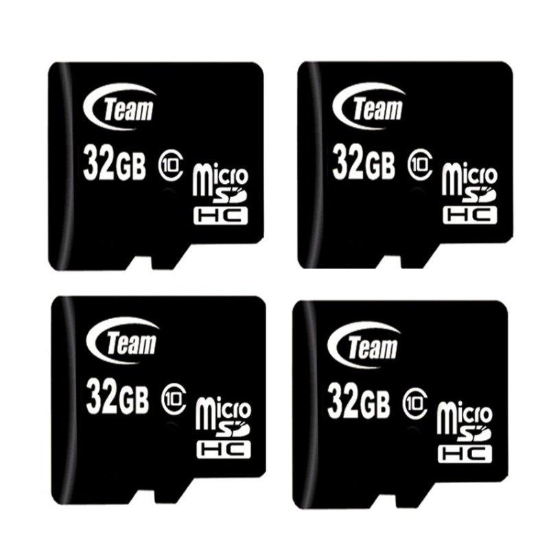 Bộ 4 Thẻ nhớ 32GB Team Taiwan MicroSDHC Class 10 (Đen)