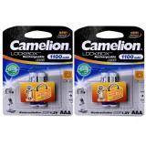 Chiết Khấu Sản Phẩm Bộ 4 Vien Pin Sạc Camelion Lockbox 1100Mah 1 2V Aaa Tigđ172 Trắng
