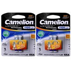 Chiết Khấu Bộ 4 Vien Pin Sạc Camelion Lockbox 1100Mah 1 2V Aaa Tigđ172 Trắng None Hà Nội