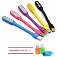 Hình ảnh Bộ 5 đèn led USB cổng usb siêu sáng + Tặng kèm Đầu đọc thẻ nhớ