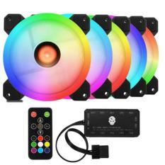 Hình ảnh Bộ 5 Fan case Coolman Sunshile RGB - Dual Ring (16 Triệu màu kèm điều khiển)