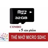 Giá Bán Bộ 5 Thẻ Nhớ 32Gb Micro Sdhc Class10 Nguyên